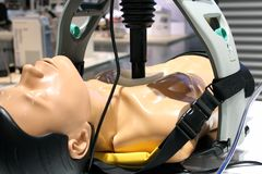 CPR. Demonstration of the CPR machine Stock Images