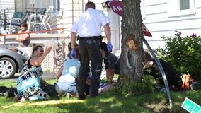 CPR - Accident de moto banque de vidéos