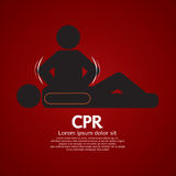 CPR Or Cardiopulmonary Resuscitation. Vector Illustration Stock Photo