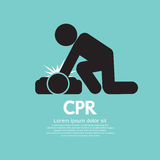 CPR Or Cardiopulmonary Resuscitation. CPR Or Cardiopulmonary Resuscitation Vector Illustration Stock Image