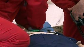 CPR con el Defibrillator almacen de video