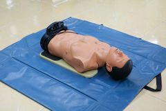 CPR dummy training for emergency refresher training to assist.  Royalty Free Stock Photo