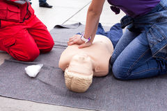 CPR. First aid. Stock Images