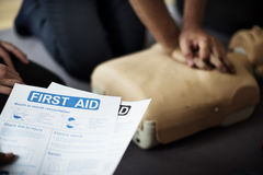 Free CPR First Aid Training Concept Stock Photo - 89032660