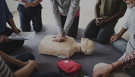 CPR First Aid Training Concept. People CPR First Aid Training Royalty Free Stock Photography