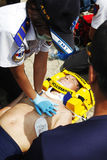 CPR Help. Fire and Rescue emergency team conducting a CPR in a drill on July 3, 2011 in Taipei Royalty Free Stock Image