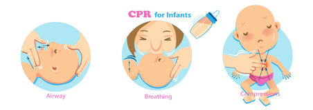 Cpr Infant stock illustration