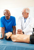 CPR Lessons From Doctor royalty free stock photography
