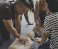 CPR pierwszej pomocy Stażowy pojęcie fotografia stock