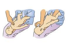 CPR pour le bébé illustration stock