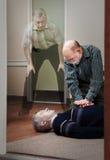 CPR près d'expérience de la mort Photographie stock libre de droits