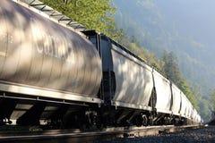 CPR-Railcars in Harrison Mills Stock Afbeeldingen