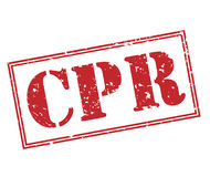 Cpr red stamp Royalty Free Stock Image
