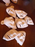 CPR: rubber face masks royalty free stock images