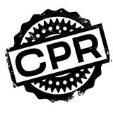 CPR rubber stamp Royalty Free Stock Photo