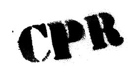 CPR rubber stamp Stock Images