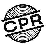 CPR rubber stamp Royalty Free Stock Photography