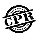 CPR rubber stamp Royalty Free Stock Images
