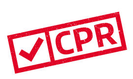CPR rubber stamp Stock Photos