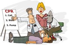 CPR technique stock illustration