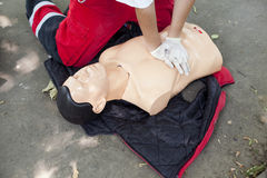 CPR training detail Stock Images