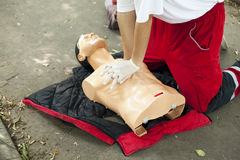 CPR training Royalty Free Stock Image