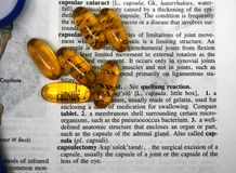 Cápsula de la droga Fotografía de archivo libre de regalías