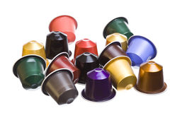 Cápsulas de Cofee Fotos de archivo libres de regalías