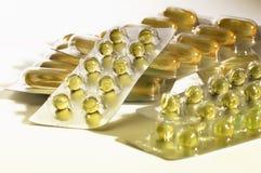 Cápsulas de la vitamina E Foto de archivo libre de regalías