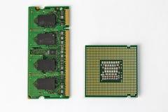 CPU和随机存储存储器芯片 库存图片