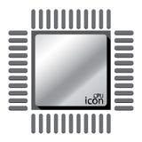 CPU象设计 免版税图库摄影