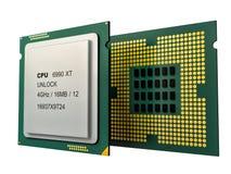 CPU à plusieurs noyaux moderne Photos stock