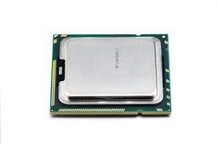 CPU à plusieurs noyaux moderne avec le backgroun blanc image stock