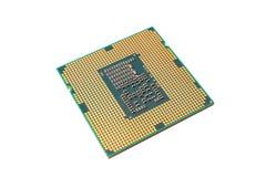 CPU aislada en el fondo blanco Foto de archivo libre de regalías