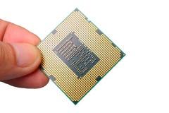 CPU aislada en el fondo blanco Fotografía de archivo libre de regalías