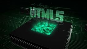 CPU on board with html5 hologram