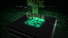 CPU on board with Made in China hologram