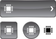 Cpu  button set. Stock Photography