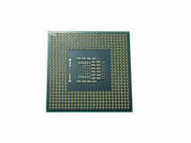 CPU (Central processing unit) microchip isolated on white backgr Stock Images