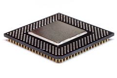 CPU-centralenhetmikrochips Arkivfoton