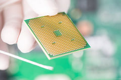 CPU chip Stock Photos