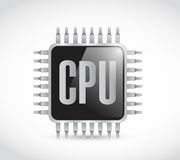 Cpu chip illustration design Royalty Free Stock Photography