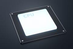 CPU Chip oder Mikrochip Lizenzfreies Stockfoto