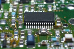 Cpu circuit board Royalty Free Stock Photography