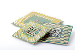 CPU. Circuit board of laptop CPU Stock Images