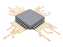 Cpu circuit Royalty Free Stock Images