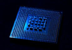 Cpu closeup for pc. And laptop Stock Photography