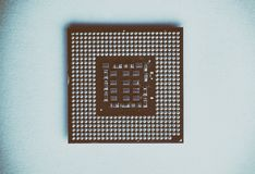 cpu closeup for pc Royalty Free Stock Image