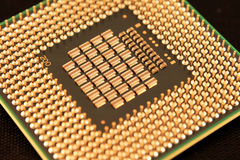 Cpu-componentenclose-up Royalty-vrije Stock Afbeelding