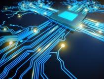 CPU-Computer lizenzfreie abbildung